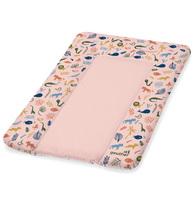 Фото-1 Накладка для пеленания Geuther розовая с животными, 50х70 см