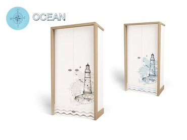 Фото-1 Шкаф двухдверный Ocean MIX детский
