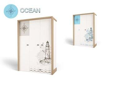 Фото-1 Шкаф трехдверный Ocean MIX детский