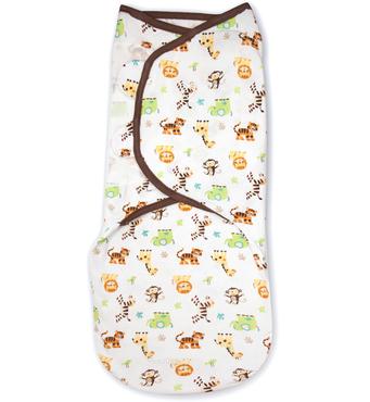 Фото-1 Конверт для пеленания новорожденных из хлопка SwaddleMe Graphic Jungle (размер S/M)