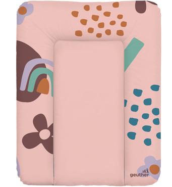 Фото-1 Накладка для пеленания Geuther розовая с цветами, 50х70 см