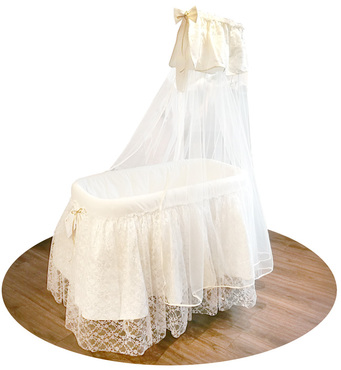 Фото-1 Кроватка-люлька Italbaby Romantic с балдахином крем