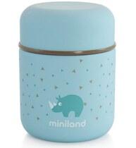 Фото-1 Термос Miniland Silky Thermos Mini для еды с сумкой голубой, 280 мл