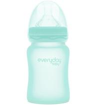 Фото-1 Бутылочка EveryDay Baby с силиконовым покрытием из стекла, 150 мл мятный