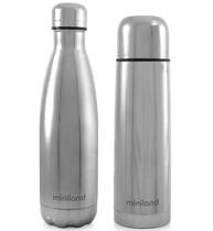 Фото-1 Набор Miniland MyBaby&Me (термос, термобутылка) 500 мл серебристый 500 мл