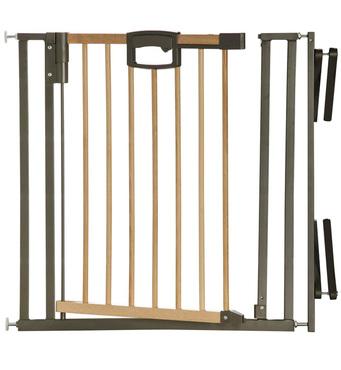 Фото-1 Ворота безопасности Geuther EasyLock Wood Plus с креплением на лестницу (2793+) натуральный