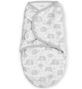 Фото-1 Конверт для пеленания на липучке SwaddleMe Ditzy Ellie (слоники), размер S/M