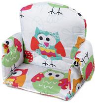 Фото-1 Мягкая вставка для стульчика Mucki белая с совами (цвет 131)