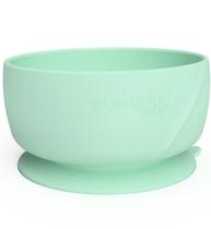 Фото-1 Детская силиконовая глубокая тарелка на присоске EveryDay Baby мятно-зеленая