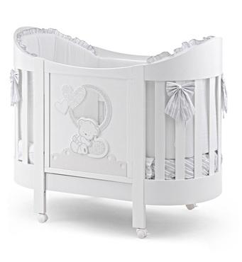 Фото-1 Овальная кровать Italbaby Love Oval белая