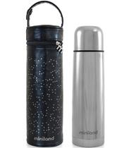 Фото-1 Термос для жидкостей Miniland Deluxe с сумкой 500 мл серебристый
