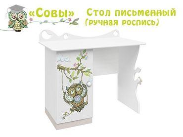 Фото-1 Стол письменный Совы Cleveroom с росписью