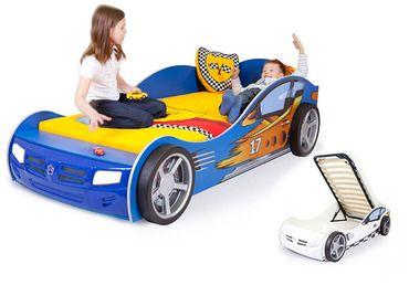 Фото-1 Advesta Кровать машина детская Champion синяя