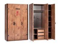 3-х дверный шкаф Black Pirat KS-1002