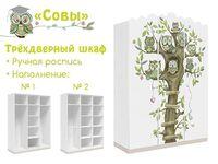 Фото-1 Шкаф трехдверный Совы Cleveroom