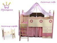 Кровать верхняя Принцесса 38 Попугаев