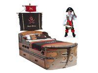 Кровать-корабль Black Pirat KS-1308