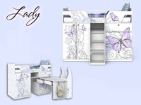 Кровать-чердак для девочки Леди Сканд-1