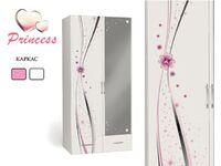Двухдверный шкаф с зеркалом Принцесса Адвеста (Princess Advesta)