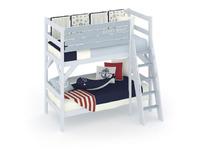 Фото-1 Двухъярусная кровать Белый Кит