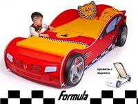 Advesta Кровать машина Formula красная