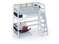 Фото-1 Кровать-чердак Белый Кит для детей