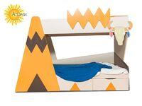 Фото-1 Кровать двухъярусная Апачи