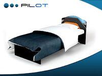 Кровать с кожаной вставкой Пилот Адвеста (Pilot Advesta)