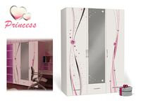Трёхдверный шкаф с зеркалом Принцесса Адвеста (Princess Advesta)