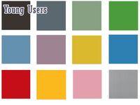 Накладки цветные для фасадов (14 цветов) VOX Young Users