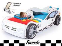 Advesta Кровать машина Formula белая