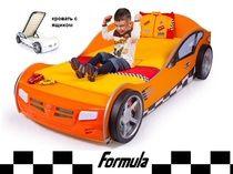 Advesta Кровать машина с фарами Formula оранж