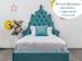 Фото-2 Кровать детская с фигурным изголовьем Art-K бирюзовая