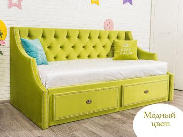 Фото-1 Кровать-диван детская Art-D зелёный