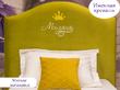 Фото-4 Детская кровать с вышивкой ИМЕНИ и мягкой спинкой Art-E