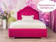 Фото-5 Розовая детская кровать с мягкой спинкой Art-G
