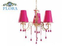 Потолочный светильник Flora Cilek AKS-6300 (розовый в белый горошек)